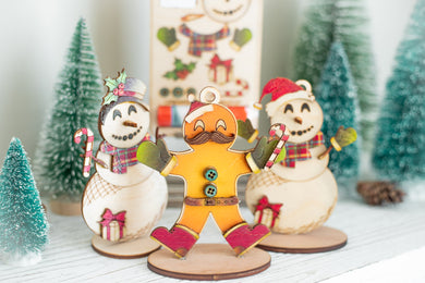 DIY Christmas Ornament Kits, Gingerbread Man & Snowman