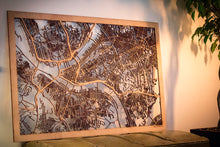 "Load image into Gallery viewer, City Maps, Large 24x36"" Perfect Housewarming Gift! Wooden Street Cutouts"