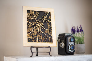 "Custom Street Maps, 8x10"" and 16x20"" Wooden Street Cutouts"