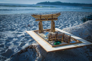 Zen Garden - Japanese Meditation Kit. Playset of 6 pieces, plus the sandbox option.