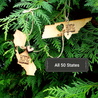 All 50 States Ornaments. Heart & Home. Show love for your place that stole your heart