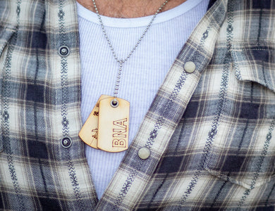 Dog tags. Major Cities by their Airport Codes across the country. LAX, JFK, BNA, etc