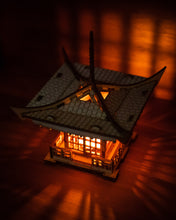 Load image into Gallery viewer, Japanese Pagoda Lantern! A Mini 3D Kit Tea Light Candle Holder To Get Peace, Love, and Zen
