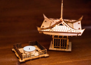 Japanese Pagoda Lantern! A Mini 3D Kit Tea Light Candle Holder To Get Peace, Love, and Zen