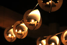 Load image into Gallery viewer, Skyboats: Hanging Lantern String Lights.  Tealight Candle Lit kits with tin reflectors