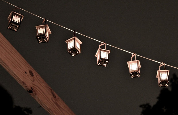 Craftsman Bungalow Luminaires. Lanterns give off warm light while hanging or on a table. 1