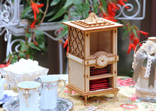 Load image into Gallery viewer, The Carlyle: Tea Box And Cookie Jar. A Functional Centerpiece And Tea Party Essential! 3D Puzzle Kit