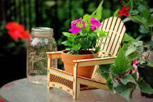Load image into Gallery viewer, Adirondack Chair. Outdoor Planter, Drink Holder, Beach Buddy, Table Centerpiece, Party Decorations