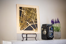 "Load image into Gallery viewer, 100 Largest Cities in US Maps, 8x10"" Gift Size! Wooden Street Cutouts"