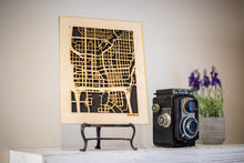 "Load image into Gallery viewer, Custom Street Maps, 8x10"" and 16x20"" Wooden Street Cutouts"