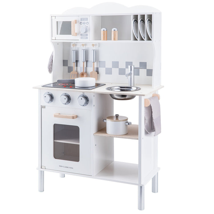 New Classic Toys Ξύλινη Κουζίνα Modern Electric Cooking White