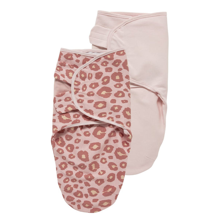 Meyco Swaddle Σετ 2 Τεμαχίων Κουβερτάκια Panther Pink/Uni