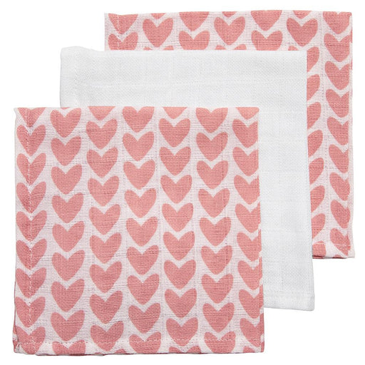 Meyco Face Cloths 3τμχ 30x30 cm Knitted Heart-Uni