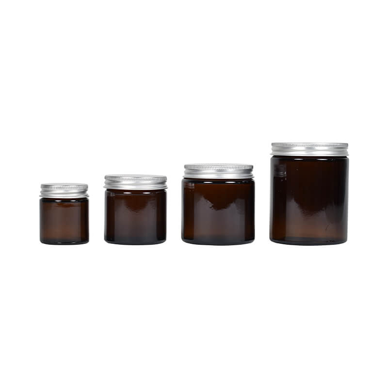 Glass Jar Amber - 30ml 60ml 120ml 160ml
