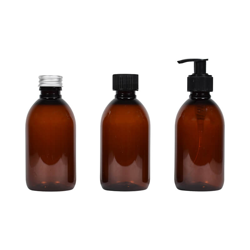 PET Bottles Amber - 100ml 250ml 500ml