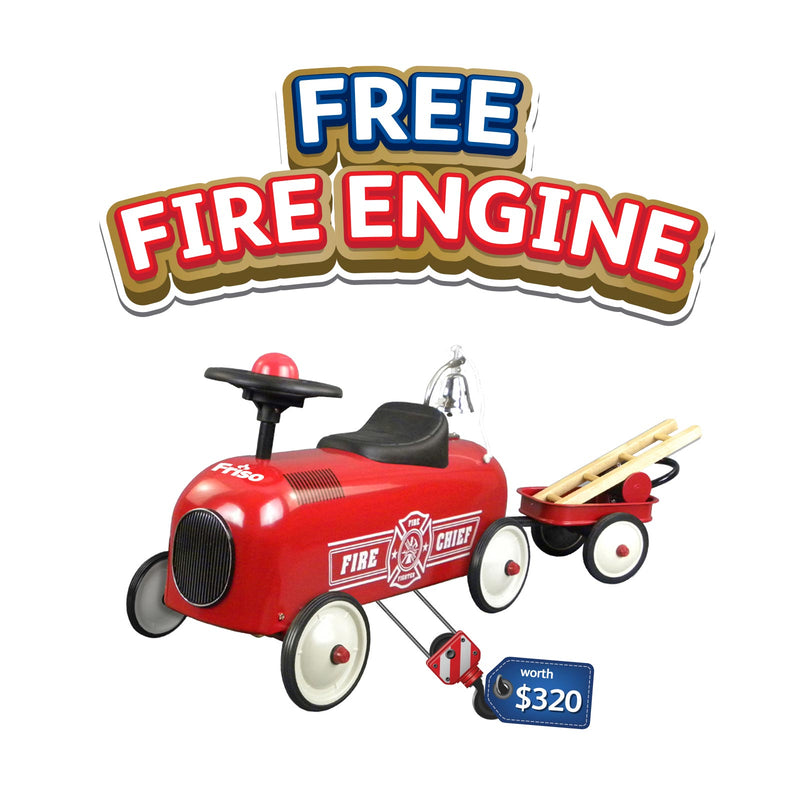 Friso Fire Engine (worth $320) - Gift will be sent separately