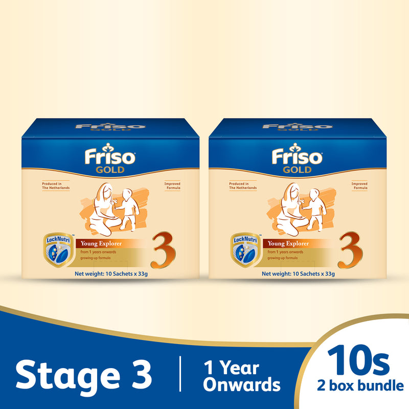 Friso Gold 3 Sachet Box 10s (2-Box Bundle)