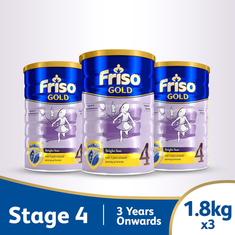Friso Gold 4 1.8kg (3-Tin Bundle)