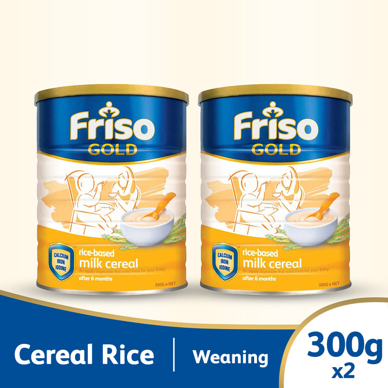 Friso Gold Rice Cereal 300g (2 Tins)