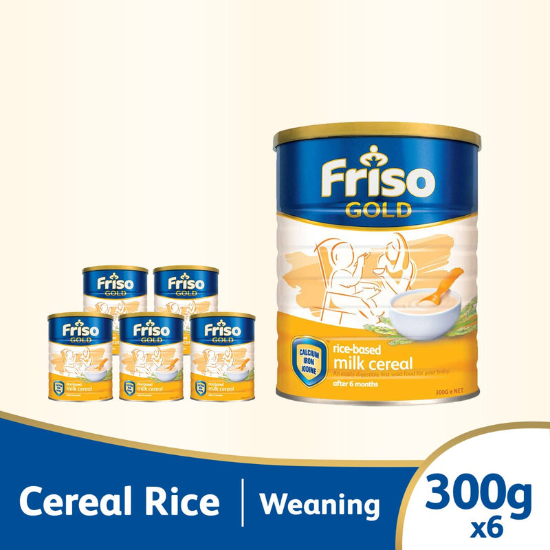 Friso Gold Rice Cereal 300g  Bundle of 6