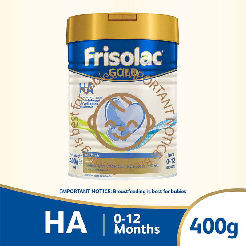 Frisolac Gold HA 400g - Specialty Infant Baby Milk Formula for Newborn 0-12 months