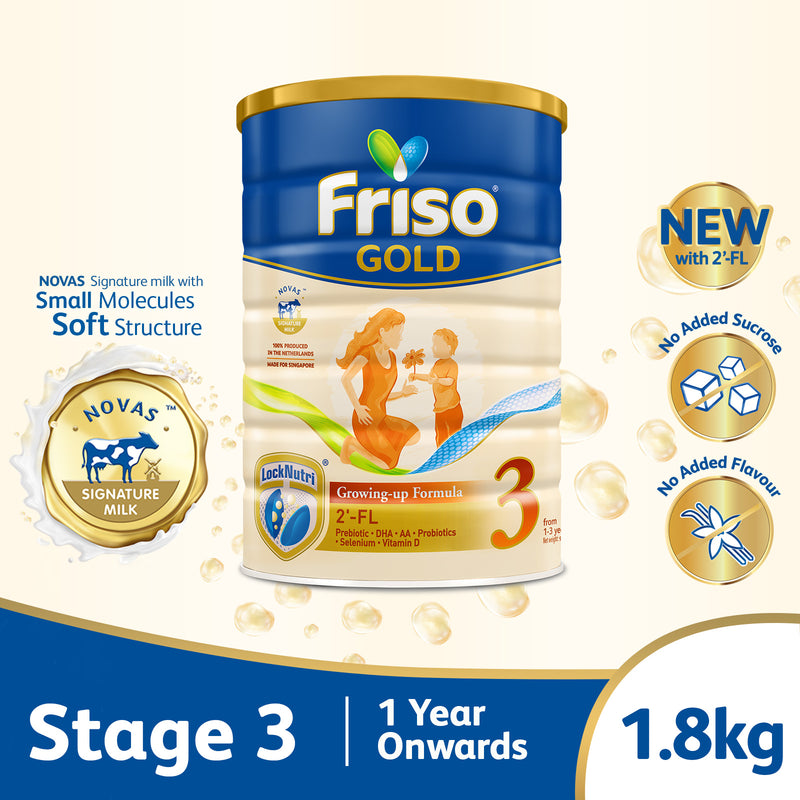 Friso Gold Stage 3 Growing Up Milk 2'-FL 1.8kg for Toddler 1+ years
