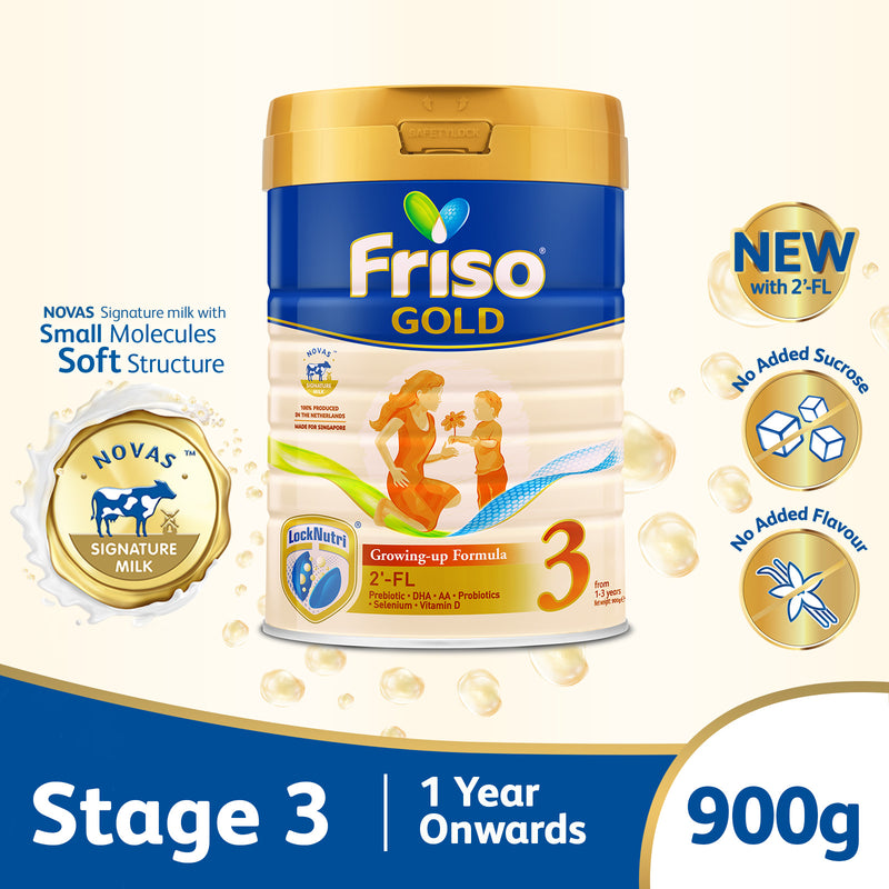 Friso Gold Stage 3 Growing Up Milk 2'-FL 900g for Toddler 1+ years