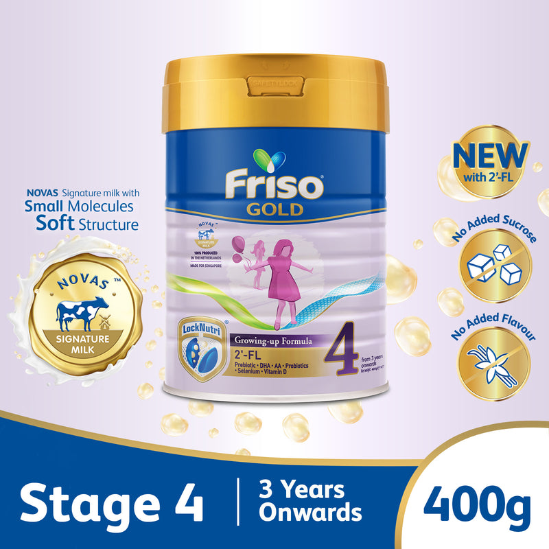 Friso Gold Stage 4 Growing Up Milk 2'-FL 400g for Toddler 3+ years