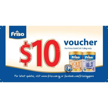 $10 Friso FairPrice voucher (worth $10)