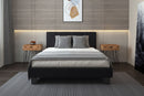 "VOLT-60"" PLATFORM BED-BROWN"