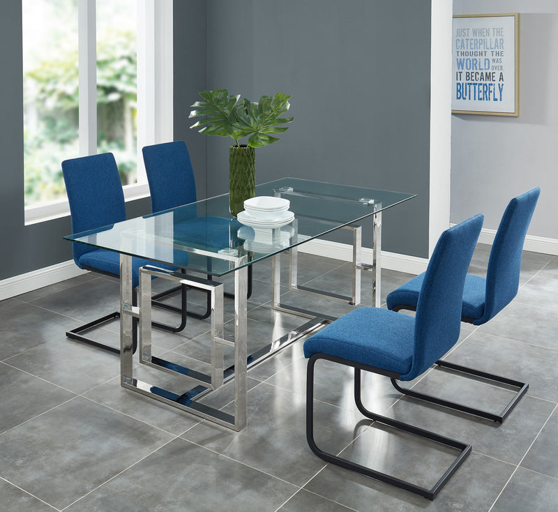 EROS-DINING TABLE-SILVER