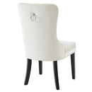 RIZZO-SIDE CHAIR-IVORY, SET OF 2