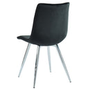 MARLO-SIDE CHAIR-BLACK, SET OF 2
