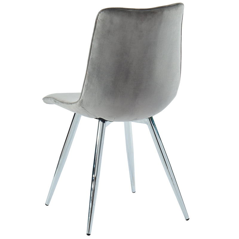 MARLO-SIDE CHAIR-GREY, SET OF 2