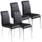 SOLARA II-SIDE CHAIR-BLACK, SET OF 4