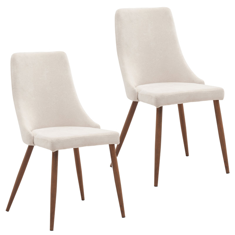 CORA-SIDE CHAIR-BEIGE, SET OF 2