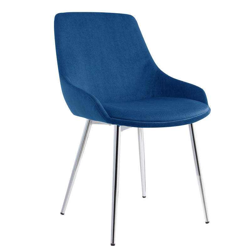 CASSIDY-SIDE CHAIR-BLUE, SET OF 2