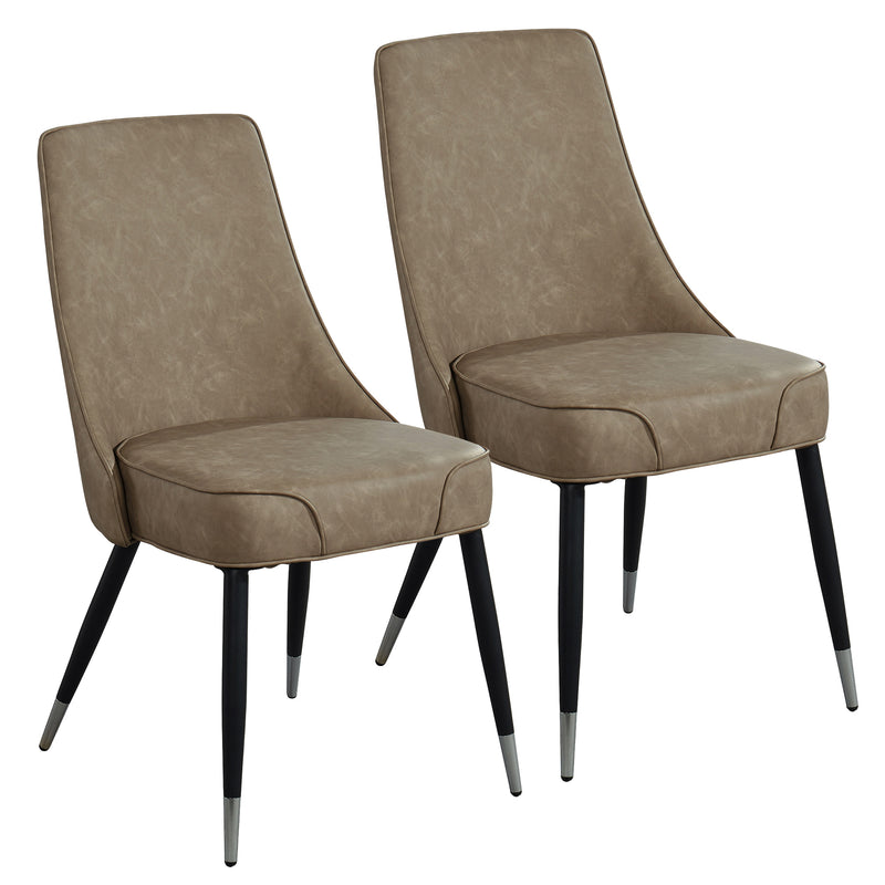 SILVANO-SIDE CHAIR-VINTAGE BROWN, SET OF 2