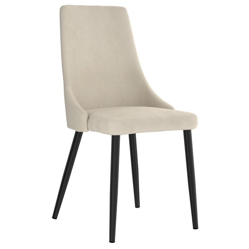 VENICE-SIDE CHAIR-BEIGE, SET OF 2