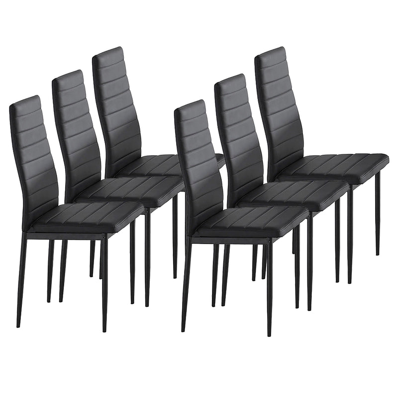 CONTRA-SIDE CHAIRS-BLACK, SET OF 6