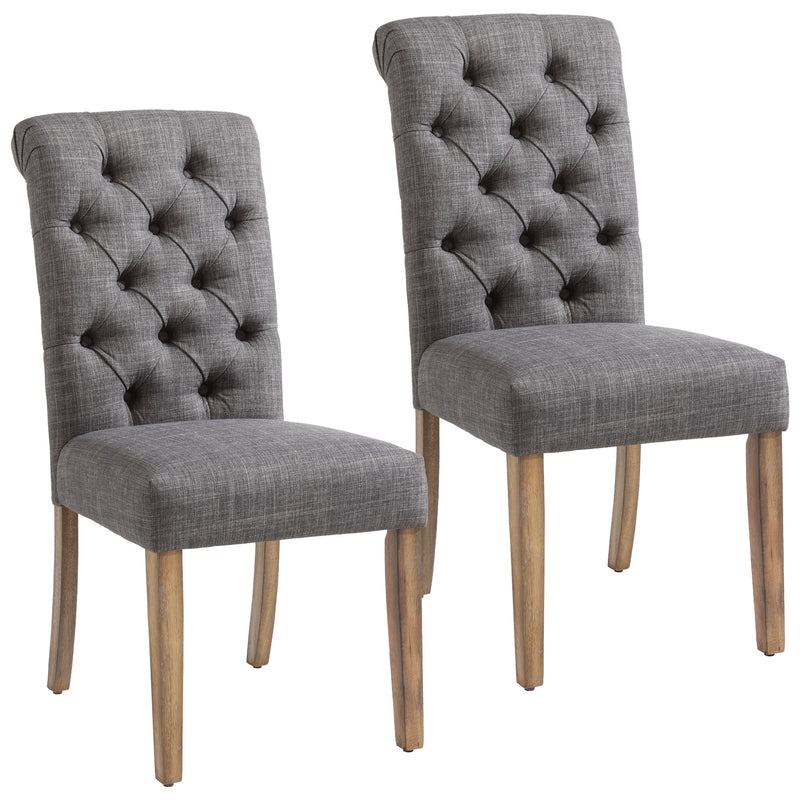 MELIA-SIDE CHAIR-GREY, SET OF 2
