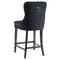 RIZZO-26'' COUNTER STOOL-BLACK, SET OF 2