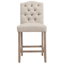 "LUCIAN-26"" COUNTER STOOL-BEIGE, SET OF 2"