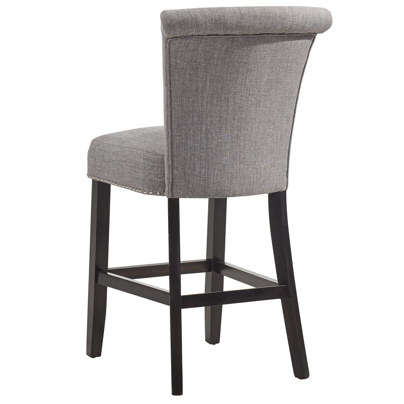 "SELMA-26"" COUNTER STOOL-LT GREY/COFFEE, SET OF 2"