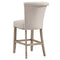 "SELMA-26"" COUNTER STOOL-BEIGE/OAK LEG, SET OF 2"