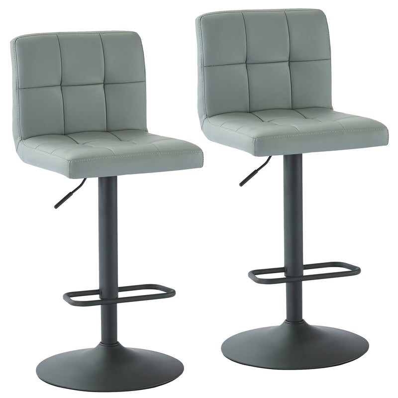 FUSION-AIR LIFT STOOL-GREY FAUX LEATHER, SET OF 2