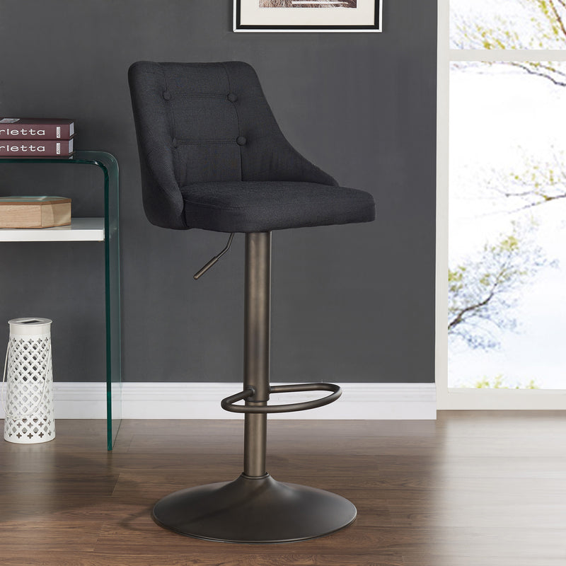 ADYSON-AIR LIFT STOOL-BLACK, SET OF 2