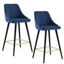 ROXANNE II-26'' COUNTER STOOL-BLUE, SET OF 2
