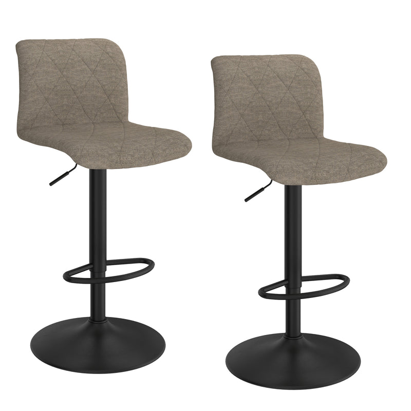 JIMY-AIR LIFT STOOL-BEIGE, SET OF 2