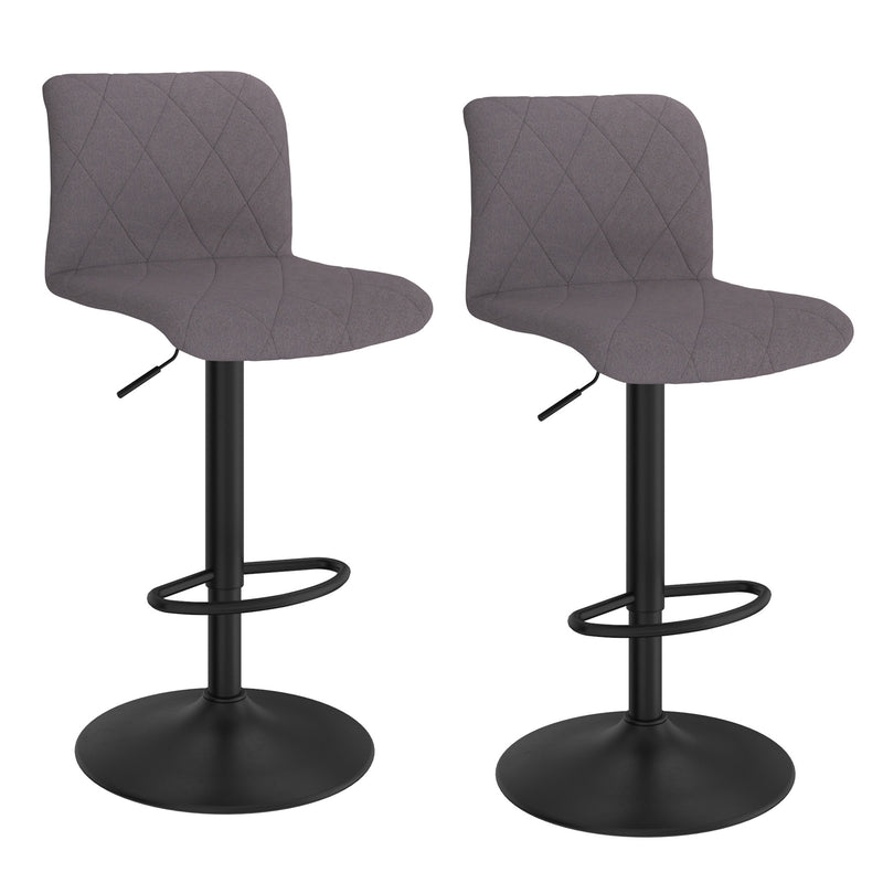 JIMY-AIR LIFT STOOL-GREY, SET OF 2